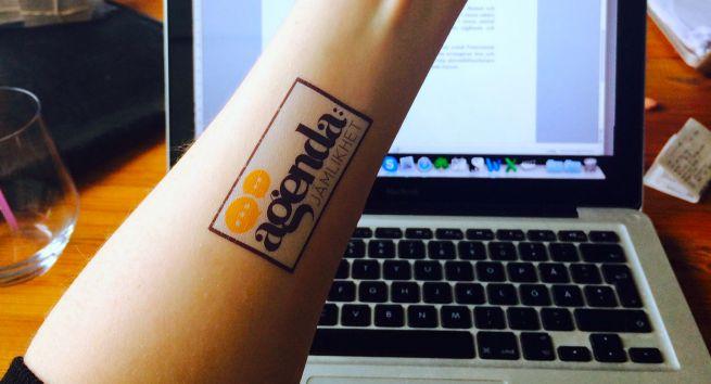 Agenda: Jämlikhet tatuering